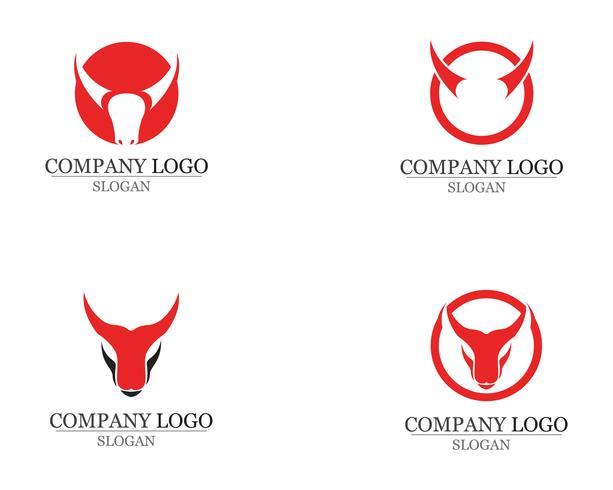Aplicación de iconos de logotipo y símbolos de cuerno de toro
