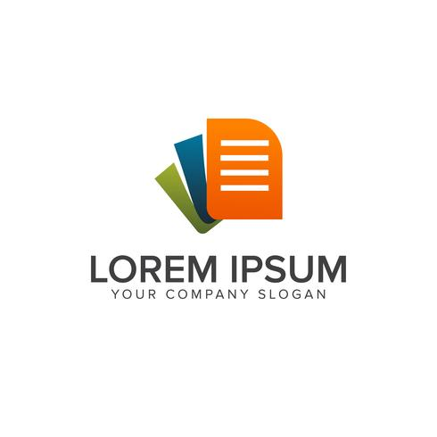 Dokument-Logo-Design-Konzept-Vorlage vektor