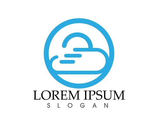 Cloud logo template vector illustratie ontwerp pictogrammen
