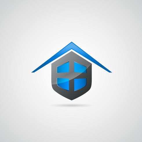 Logo simbolo scudo casa