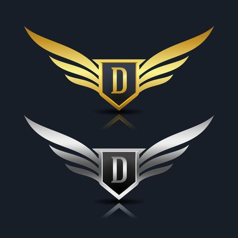 Emblema della lettera D Logo