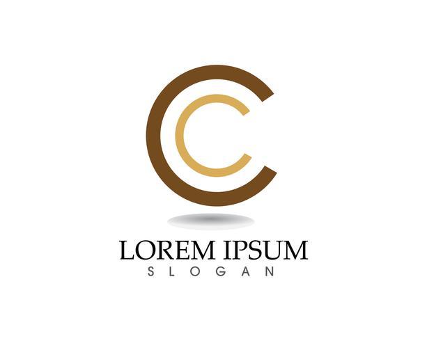 Logotipo de círculo y símbolos vector plantilla de iconos