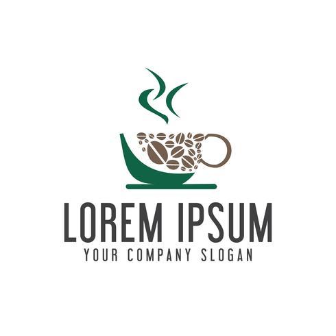 modelo de conceito de design de logotipo de cafeteria