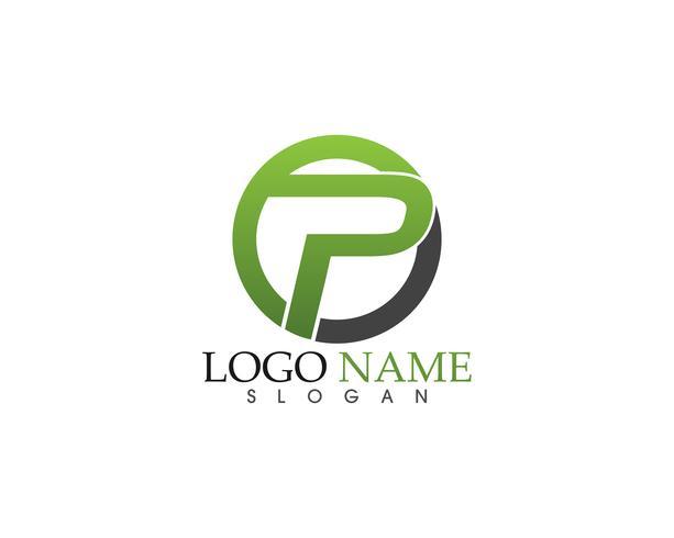 P logo ontwerp vector Zakelijke bedrijfsbrief