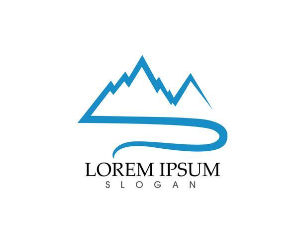 Berg natuur landschap logo en symbolen pictogrammen sjabloon ..