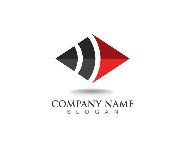 Logotipo de negocios finanzas y símbolos vector concepto ilustración
