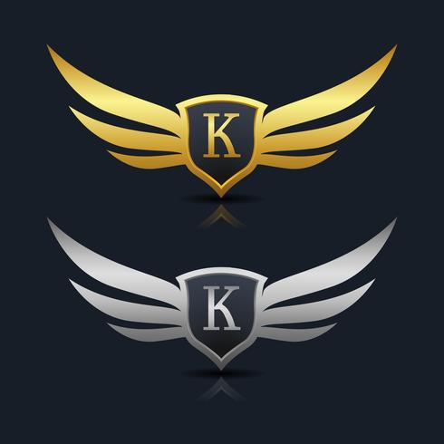 Buchstabe K Emblem Logo