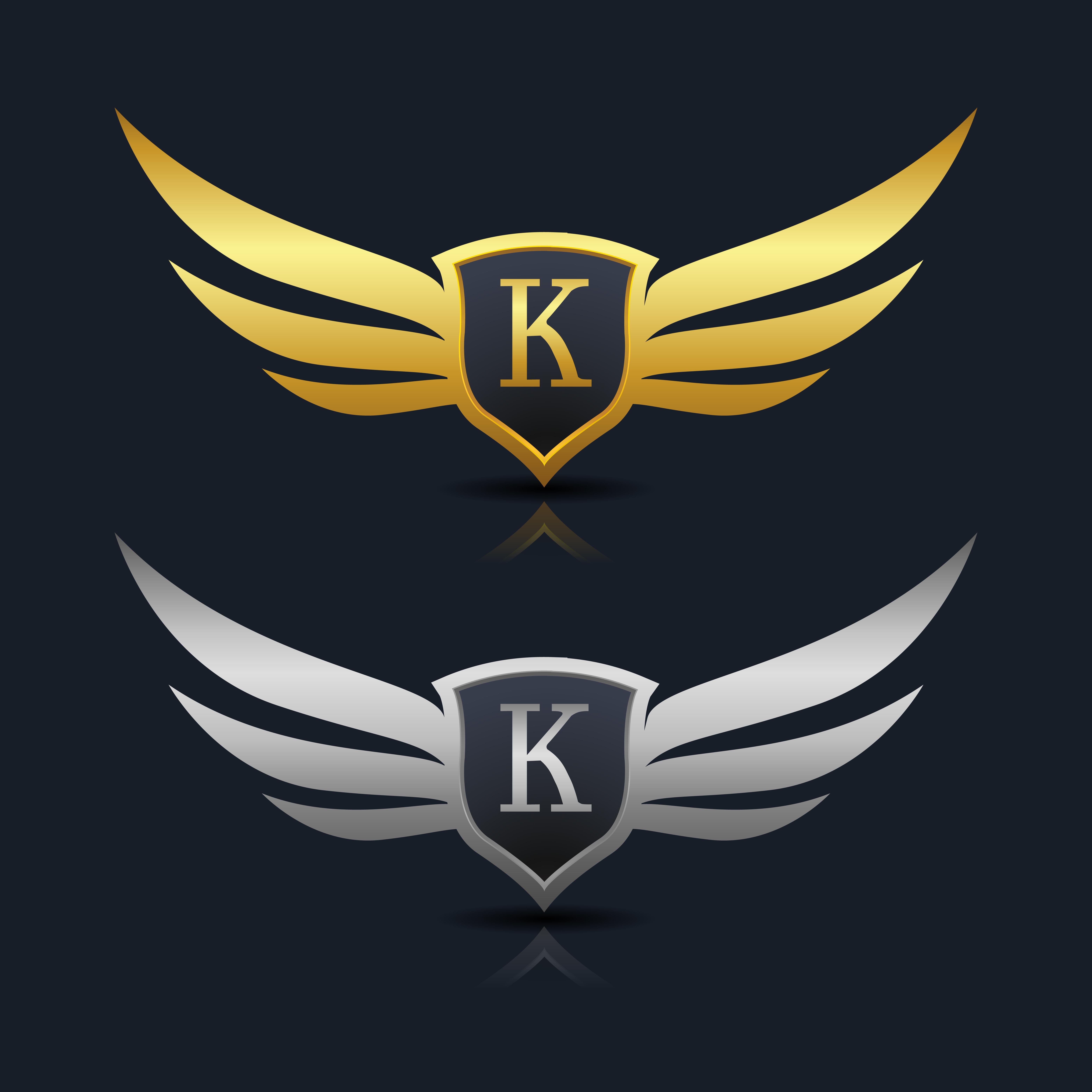 Letter K Emblem Logo