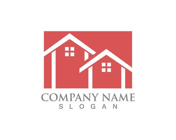 Casa simples casa imobiliária logotipo ícones