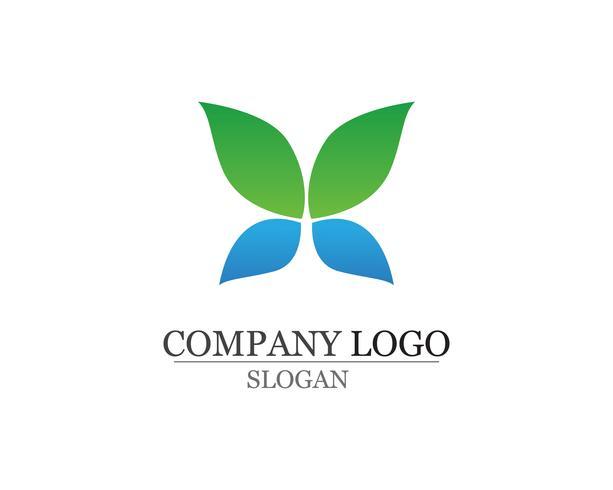 bladgroen natuur logo en symbool sjabloon Vector app