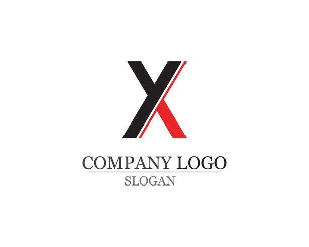 X brief Logo sjabloon vector pictogram ontwerp app