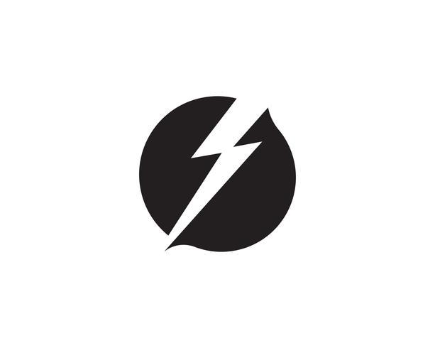 ícone e símbolo do logotipo do relâmpago