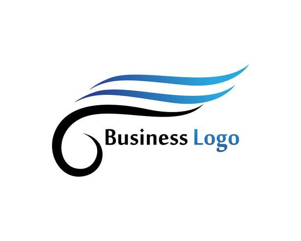 Vingar fågel logotyp tecken abstrakt mall ikoner app vektor