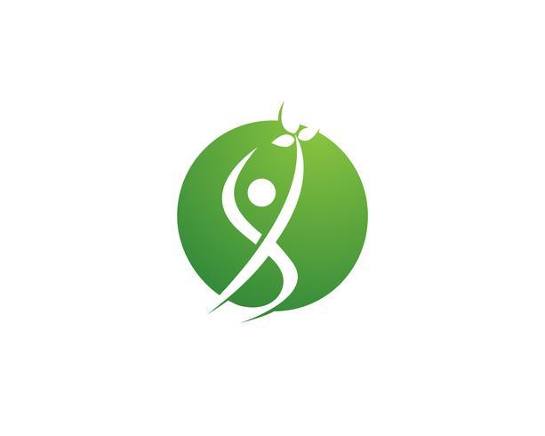Gezondheid natuur mensen geven logo en symbolen sjabloon