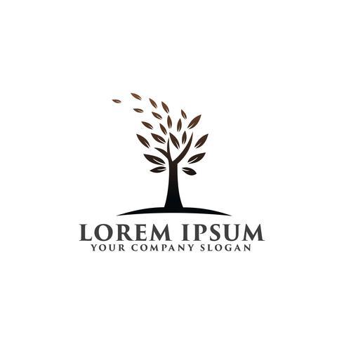 träd naturlig logotyp. Miljö och grön landskapsarkitektur logo desi