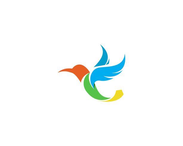 Kolibrie pictogram logo en symbolen sjabloon vector