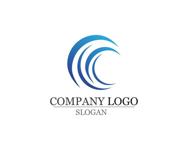 Golven strand logo en symbolen sjabloon pictogrammen app vector