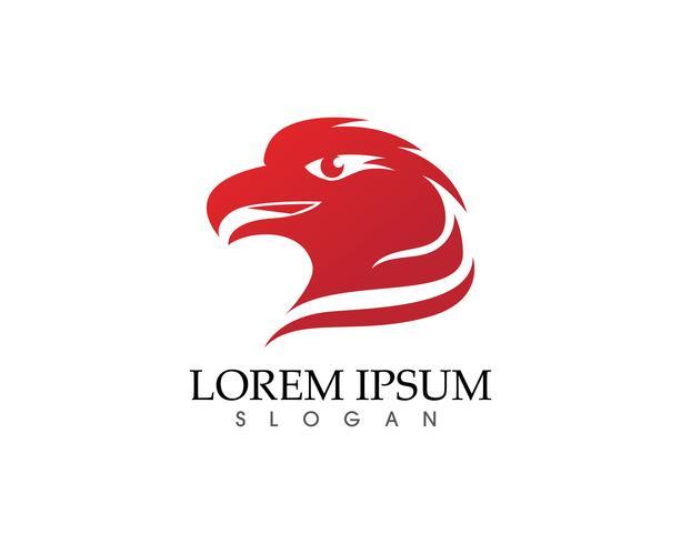 Falcon Eagle Bird Logo Template vector pictogrammen