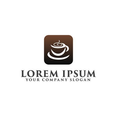 Plantilla de concepto de diseño de logotipo de coffe