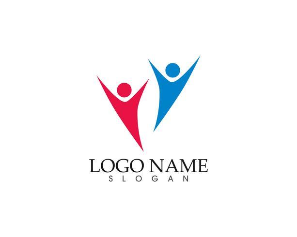 Gemeenschap vector pictogram logo en symbolen sjabloon