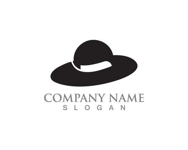 Schwarze Farbe des Hutfrauenvektorsymbol-Logos