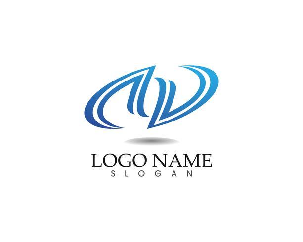 Plantilla e iconos abstractos del diseño del logotipo del negocio