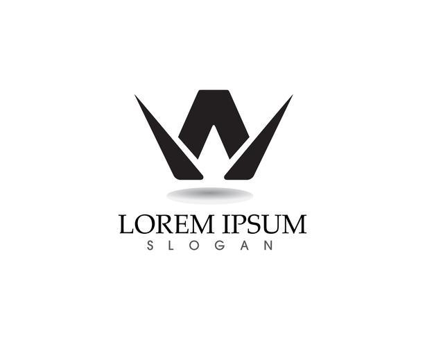 W Buchstaben Business Logo und Symbole Vorlage