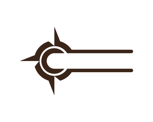 Kompass Zeichen und Symbole Logo Vektor-App-Symbole -