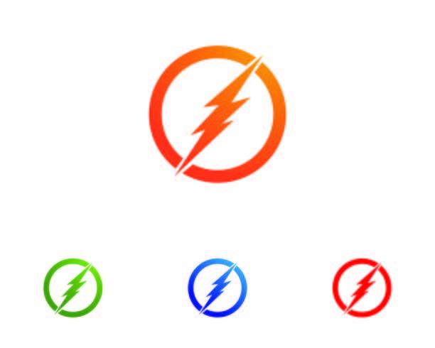 bliksem pictogram, logo en symbool