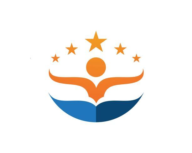 Bedrijfssucces mensen logo en symbolen sjabloon