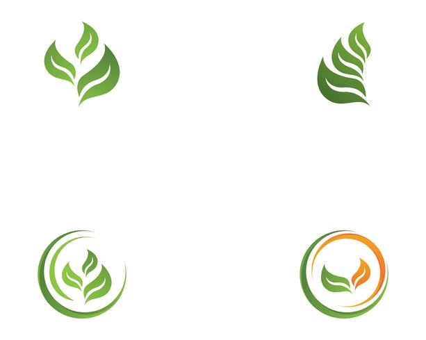 Ökologie Vektor Icon Logo und Symbol Vorlage