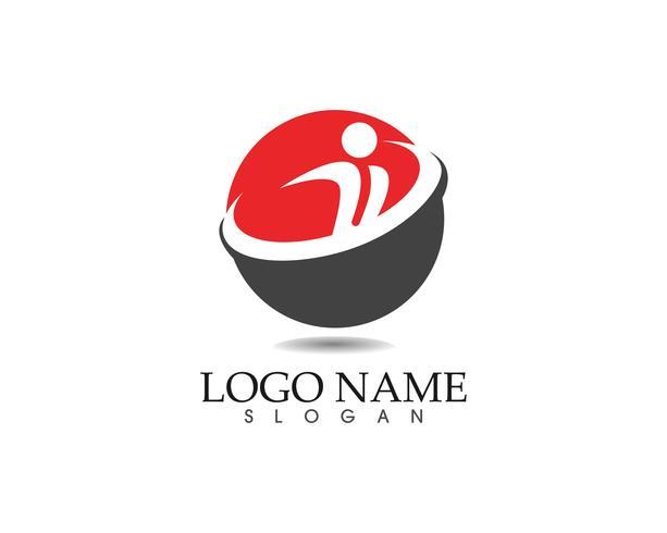 Gemeinschaftsleute interessieren sich Logo- und Symbolschablone