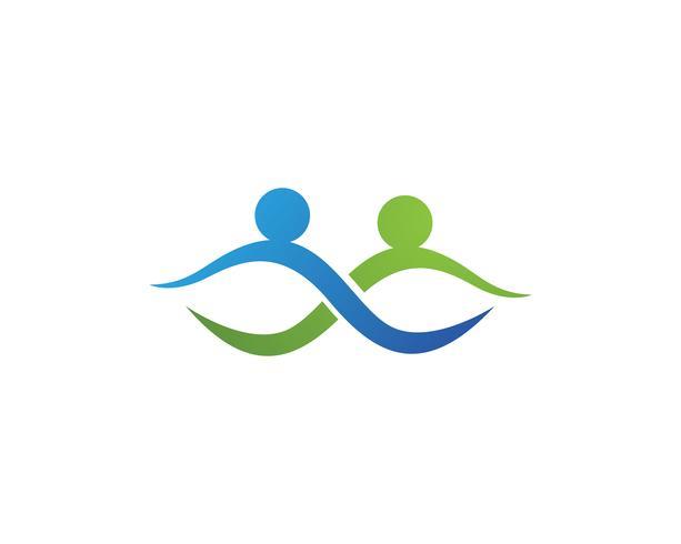 Gemeinschaftsleute-Logo und Symbolschablonenikonen