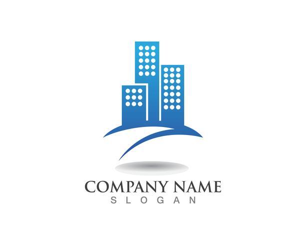 Appartement onroerend goed en constructie Logo ontwerp