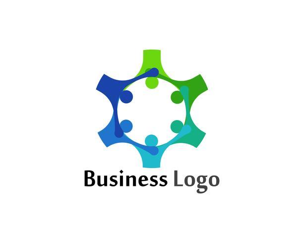 Community-Logo Menschen Pflege und Symbole Vorlage