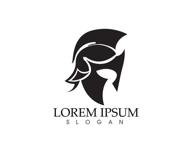 Maschera del guerriero Knight Titan Sparta Spartan Simple Silhouette