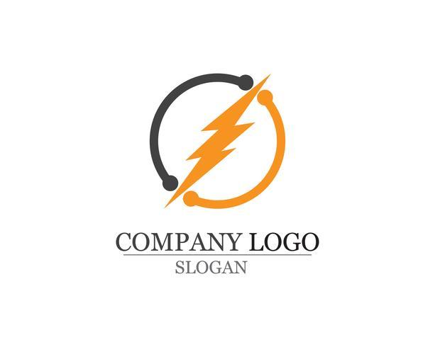 Rayo icono logo y símbolos vector plantilla