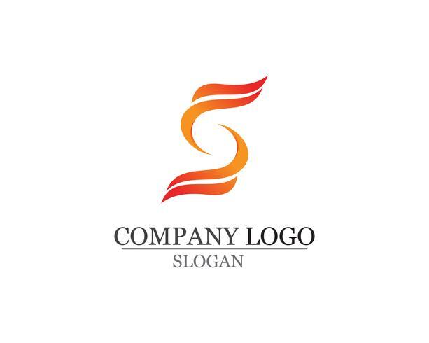S Logo und Symbole Vorlage Vektor-Icons
