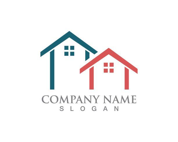 Einfaches Haus Home Real Estate Logo Icons