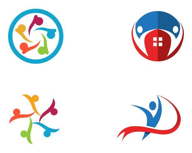 As pessoas da comunidade se importam logotipo e modelo de símbolos