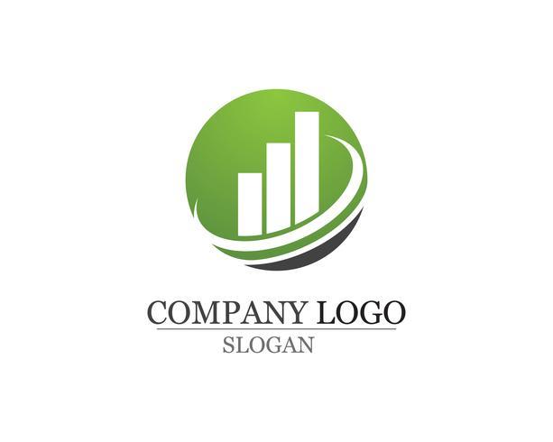 Bedrijfsfinanciënembleem en illustratie van het symbolen de vectorconcept