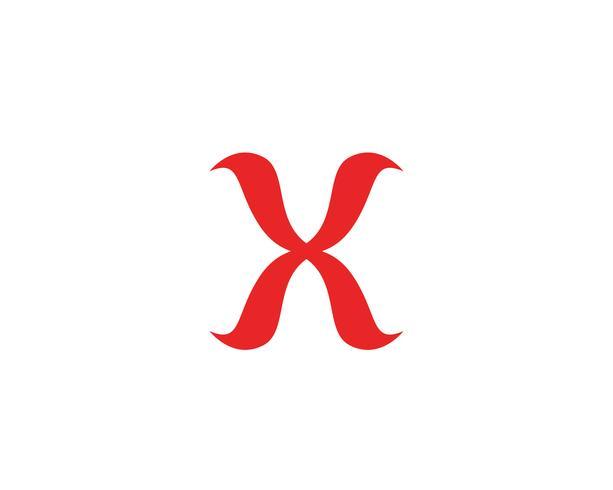X lettre Logo Template vector icon design
