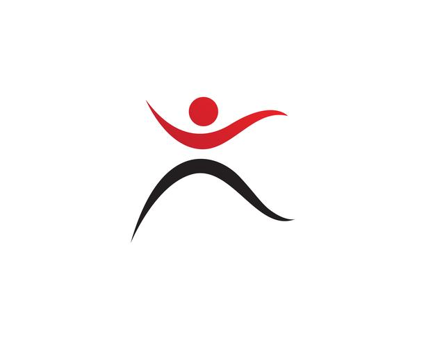 mensen zorg succes gezondheid leven logo sjabloon pictogrammen