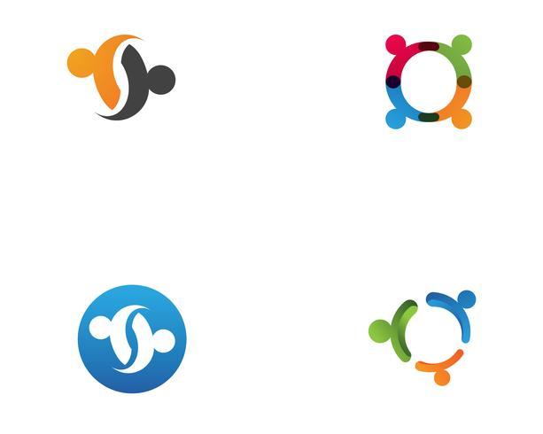 Adoptie en community care Logo sjabloon vector pictogram
