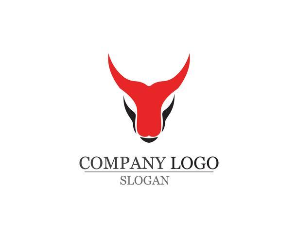 Bull hornsymbol och symboler mallikoner app