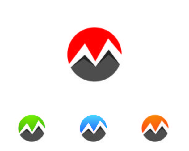 M-logo Letter vector pictogrammen zoals logo's sjabloon