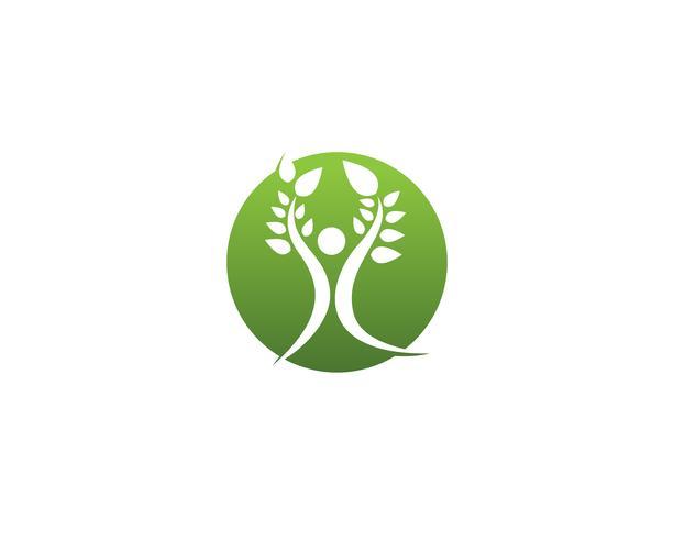 Salud naturaleza personas atención logo y símbolos plantilla