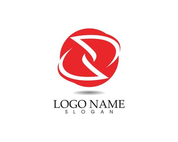 Modelo de design de logotipo abstrato de negócios e ícones