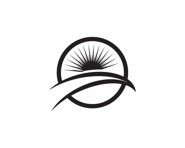 Sun logo and symbols star icon web
