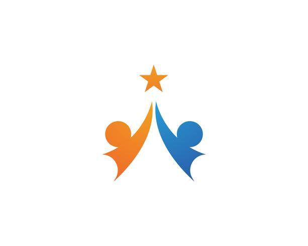 Gemeenschapsmensen logo en symbolen sjabloonpictogrammen